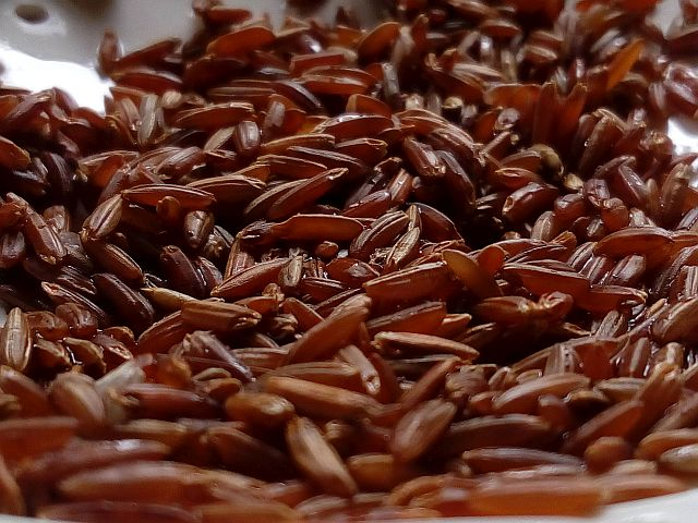 Roter Reis ist der Trend
