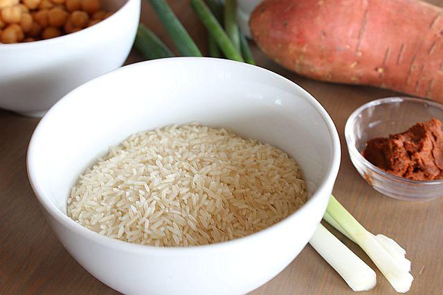 Die Zutaten für das Süßkartoffel Curry
