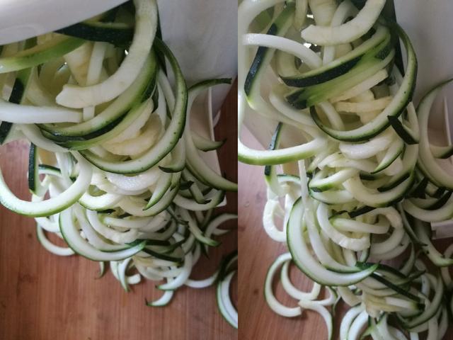 Zucchini Nudeln mit dem Spiral-Schneider